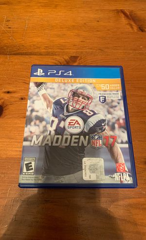 Madden NFL 17 PS4 for Sale in Howell, MI