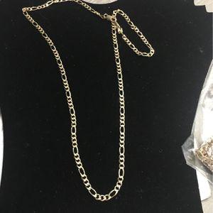 24 Inch 14k Gold Bonded Figaro Chain For Sale for Sale in Miami, FL