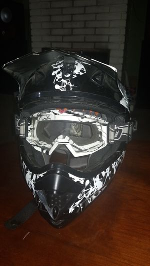 HJC Helmet with goggles for Sale in Brea, CA
