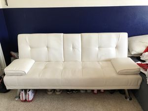 Faux leather modern convertible folding futon sofa bed recliner couch for Sale in Phoenix, AZ