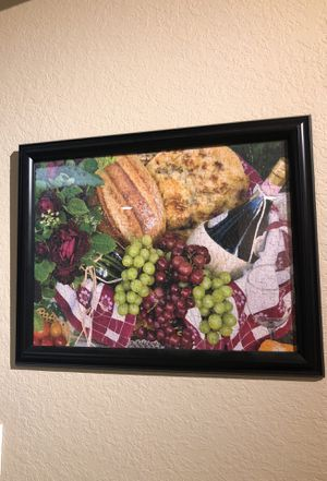 Wine and cheese framed puzzle for Sale in Tampa, FL