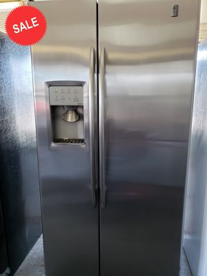 💎💎💎Stainless Steel GE Refrigerator Fridge Works Perfect #1397💎💎💎 for Sale in Riverside, CA