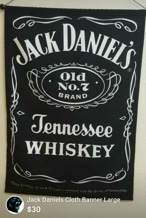 Jack Daniels Cloth Wall Banner for Sale in Charlotte, NC