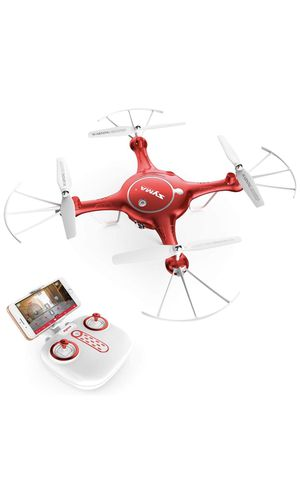 Syma camera drone headless helicopter quadcopter (RED) for Sale in Chicago Ridge, IL