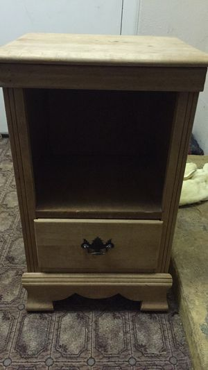 Small End Shelf and Wooden Clothes Drawer for Sale in Sparks, NV