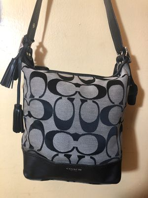 XL Black on gray Coach Bag for Sale in Capitol Heights, MD