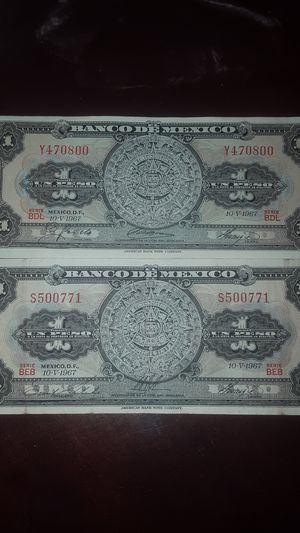 I have 2 bills (1 peso) for Sale in Sanger, CA
