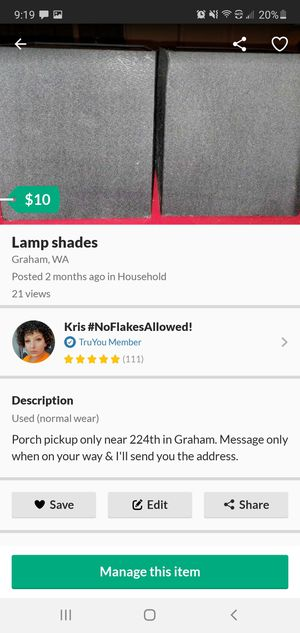 Black lamp shades for Sale in Graham, WA