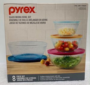 Pyrex Glass Mixing Bowl Set 8Pcs #1119590 for Sale in Hialeah, FL