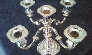 Vintage Silver Plated 5 arm Candelabra Nagel BMF made in West Germany for Sale in Seminole, FL