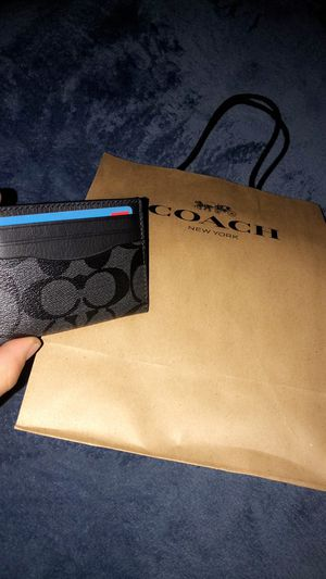 Men's COACH card holder for Sale in Lakewood, CO