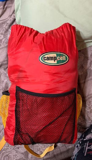 Kids camp cell sleeping bag with backpack case for Sale in Allentown, PA