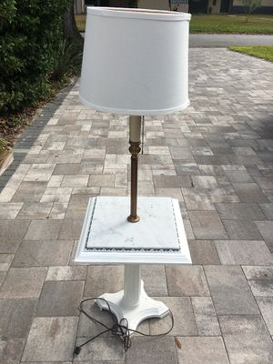 Unique Antique Lamp with Marble Tabletop for Sale in Clearwater, FL