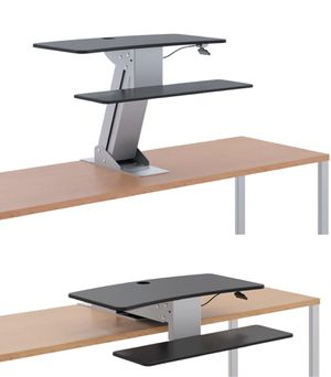 "New in box HON Model HS1100 Desk Top Riser Work Adjustable Height Sit to Stand Desktop Mounted Works Between 20"" to 30"" Depth Desk $358 MSRP for Sale in Covina, CA"