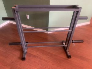 Dumbbell weight plate kettle bell storage rack for Sale in McKinney, TX