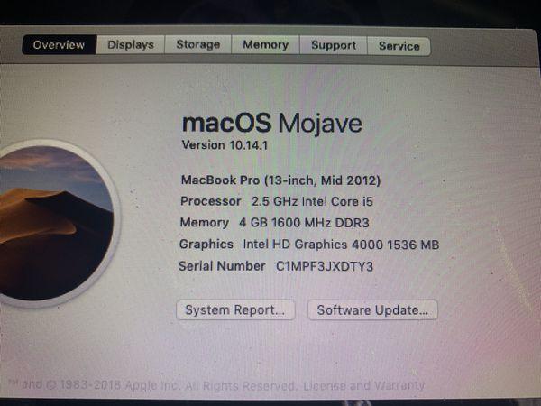 Macbooc Pro (13-Inch, Mid-2012)