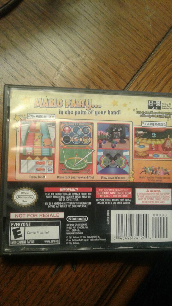 Nintendo ds CASE ONLY! MARIO PARTY