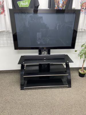 Pioneer Elite 50 inch Plasma TV and Heavy Duty Stand and Polk Audio Sound Bar with Subwoofer. $400 for Sale in Scottsdale, AZ
