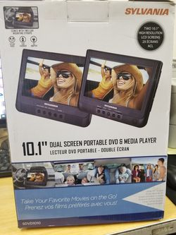 """2 10 """" set of DVD PLAYERS. HANGS behind THE headrests. ALL accessories INCLUDED for Sale in Los Angeles,  CA"""