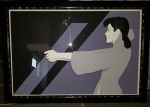 Craig Drake Blade Runner Rachael Rare limited xx/135 Screen Print Custom Frame Glass and Metal Poster Collectible Art for Sale in Austin, TX
