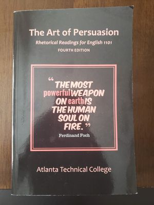 The art of Persuasion, English 1101 for Sale in Union City, GA