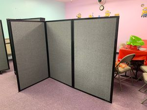 Room/office movable/ foldable 3 panels dividers 32inches each wide by 57 inches tall per panel for Sale in Buena Park, CA