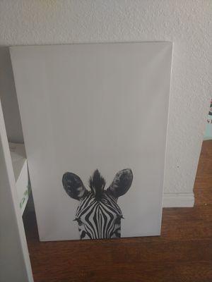 Black and white safari animal canvas for Sale in Rancho Cucamonga, CA