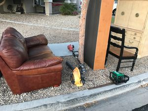 Free lawn equipment and furniture and miscellaneous items, first come first serve for Sale in Phoenix, AZ