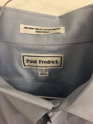 4 Paul Fredrick Non-Iron Cotton Broadcloth Solid Color Straight Collar Dress Shirts for Sale in Washington, DC