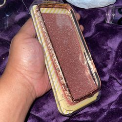 Rose Gold Metal Bumper Bling Case W Pink Glitter Skin For IPhone 12 Max Pro for Sale in Houston,  TX
