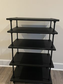 TV Stand/AV Rack Black for Sale in Alexandria,  VA