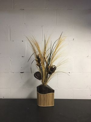 Bamboo vase with plants for Sale in McDonald, PA