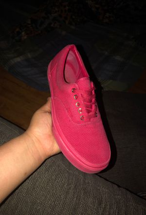 Red and gold low top vans for Sale in Denver, CO