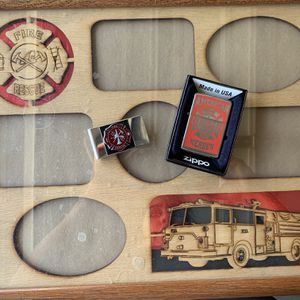 Firefighter Frame, Money Clip and Lighter for Sale in Nuevo, CA