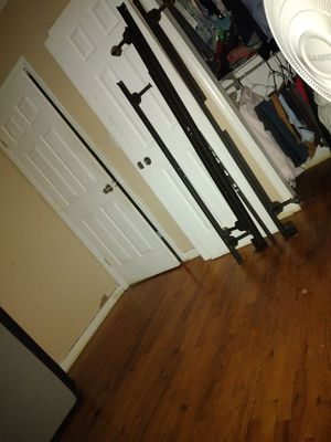 Queen size bed frame and queen size box spring for Sale in Edison, NJ