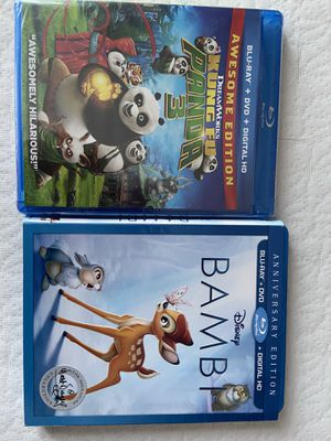 "Kung Fu / Bambi ""opened""Kids Blu-ray for Sale in Fort Worth, TX"