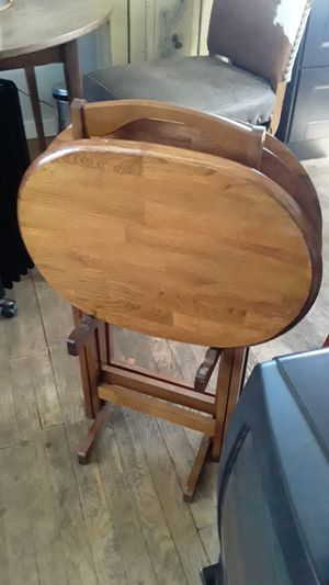 3 wooden table food trays for Sale in Denver, CO