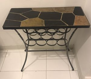 Metal & Stone Top Table Wine Rack for Sale in New York, NY