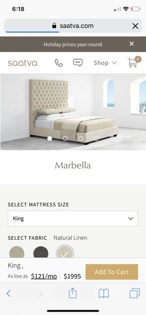 King Size Bed - Frame, Box Springs & Mattress for Sale in Del Mar, CA