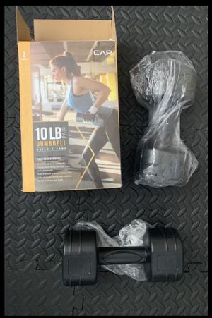 NEW 10lb CAP Dumbbell Set for Sale in Costa Mesa, CA
