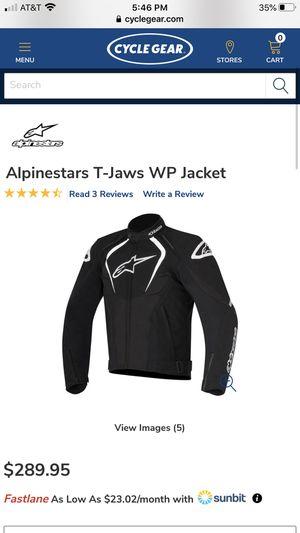Alpinestars T-Jaws WP Motorcycle Jacket Size Medium for Sale in Fresno, CA