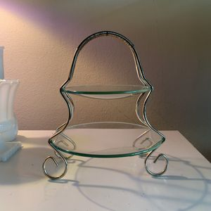 Vintage Candy Dish - Two Level Glass for Sale in Pinecrest, FL