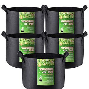 Vivosun Pots Fabric Containers . 5 pack of 10 gallon & 5 pack of 7 gallon Growing Bags. for Sale in Hollywood, FL