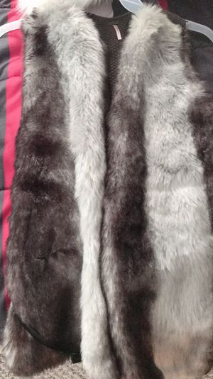 Black and Gray Faux Fur Vest for Sale in Ontarioville, IL