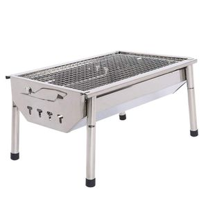 Fold Portable Barbecue Charcoal Grill Stove Stainless Steel Outdoor BBQ Picnic for Sale in Brooklyn, NY