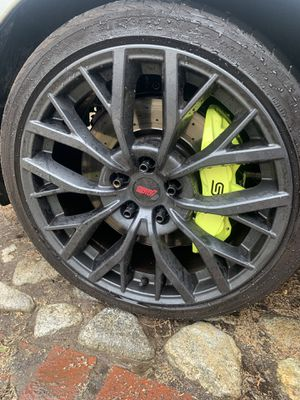 "2018 Subaru sti 19"" wheels with tires 5x114 for Sale in Ontario, CA"