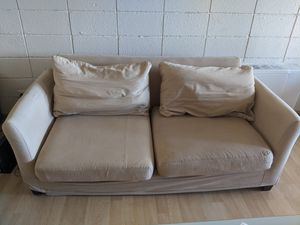 Couch with tan cover for Sale in Denver, CO