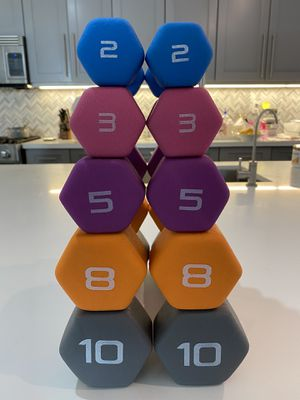 Dumbbell Pair 2lb 3lb 5lb 8lb 10lb(Brand New!) See below price list for Sale in Irvine, CA