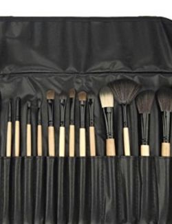 Professional Makeup Brush Set with Free Case, Black, 24 Pcs for Sale in Monterey Park,  CA