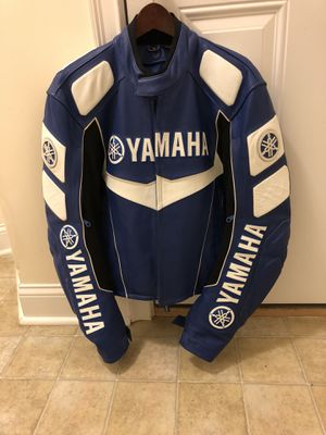 Yamaha Racing Blue Leather Motorcycle Jacket RN 71136 for Sale in Manchester, NH